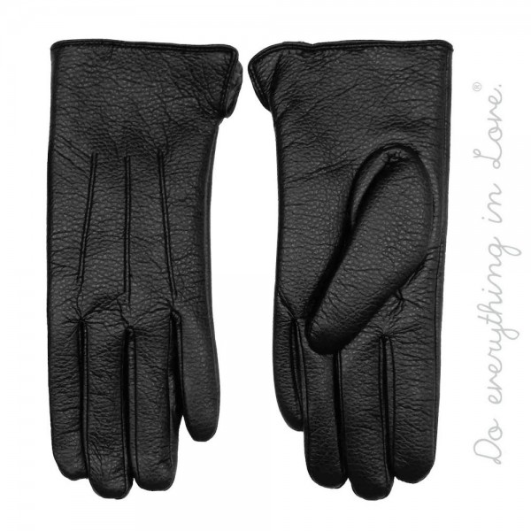 Do everything in Love Brand PU Fuzzy Lined Smart Touch Gloves.  - Touchscreen Compatible - One size fits most - 100% PU