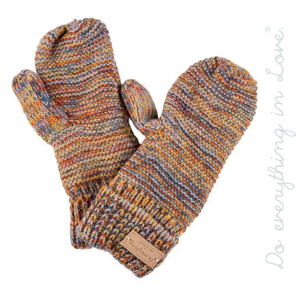 Do everything in Love brand multicolor melange knit mittens.  - One size fits most  - 100% Acrylic