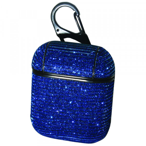 Hard Plastic Glitter Micro Fiber Protective Skin for Headphone Case.  - Compatible with AirPods Case Only - 360° Full Protection - High Quality Micro Fiber  - Detachable Clip - Magnetic Secure Closure  Securely Fits AirPod Case to Allow for Magnetic Closure.  Headphones not Included.