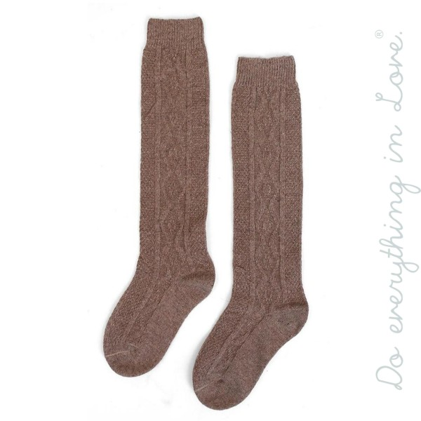 Do everything in Love Brand Solid Knit Boot Socks.  - One size fits most women's 6-9 - 35% Wool, 65% Polyester