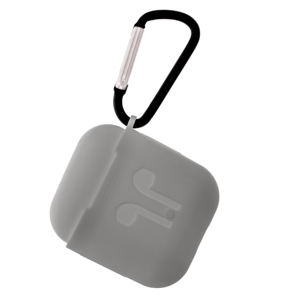 Solid silicone AirPod case protector featuring:   - 360 Full Protection  - USB Port - Compatible with AirPods & AirPods 2  - High quality silicone  - Detachable clip     AirPods not included.