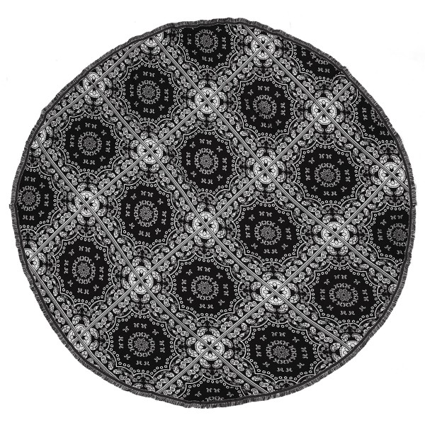 "Do everything in Love Brand Lightweight Bandana Print Beach Roundie.  - Approximately 59"" in diameter - 100% Viscose"