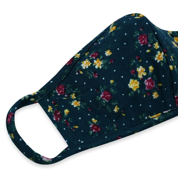 Reusable Floral Print T-Shirt Cloth Face Mask with Seam.  - Machine Wash in Cold  - Mild Detergent  - Lay Flat to Dry - Do Not Bleach - Reusable Face Mask - These Mask have NO Filter - One Size Fits Most Adults - Exterior Material: 95% Polyester / 5% Spandex - Interior Material: Cotton Blend in Ivory or White  These Masks Are Not For Professional Use and Not Medically Rated. These Masks Have No Proven Effectiveness Against Any Viruses.