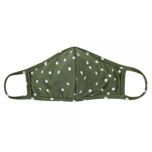 Wholesale adults Reusable Polka Dot T Shirt Cloth Mask Seam Machine Wash Cold Mi