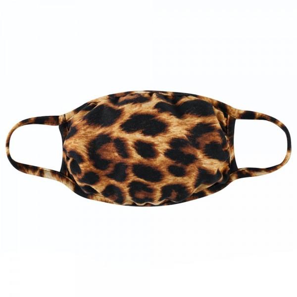 Wholesale reusable Leopard Print T Shirt Cloth Mask Machine Wash Cold Mild Deter
