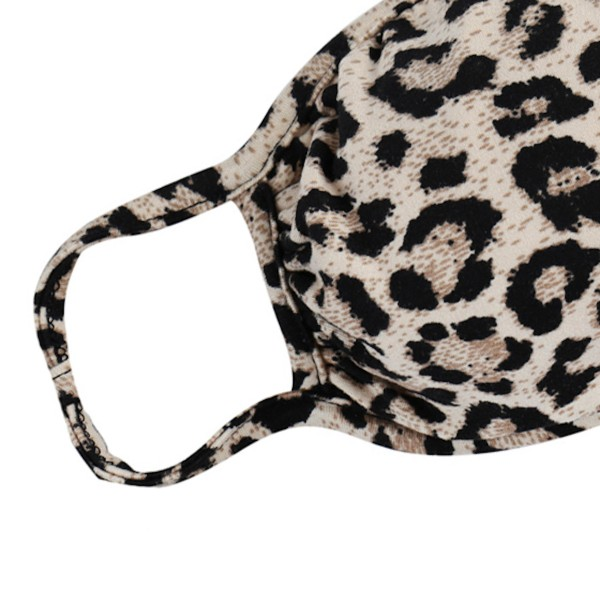 """ADULTS Reusable Leopard Print T-Shirt Cloth Face Mask.  - Machine Wash in Cold  - Mild Detergent  - Lay Flat to Dry - Do Not Bleach - Adjustable Reusable Face Mask - These Mask Have NO Filter - One Size Fits Most Adults - Exterior Material: 95% Polyester / 5% Spandex - Interior Material: Cotton Blend in Ivory or White  These Masks Are Not For Professional Use and Not Medically Rated. These Masks Have No Proven Effectiveness Against Any Viruses.   * """"This item is being Pre-Sold and is not currently in stock. We will ship out once we receive on a first come first serve basis. Due to the High Demand, we suggest getting your order placed ASAP as these are selling quickly and we cannot guarantee quantity."""""""