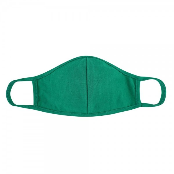 Reusable Solid Color T-Shirt Cloth Face Mask with Seam.  - Machine Wash in Cold - Mild Detergent - Lay Flat to Dry - Do Not Bleach - Reusable Face Mask - These Mask Have NO Filter - One Size Fits Most Adults - Exterior Material: 95% Polyester / 5% Spandex - Interior Material: Cotton Blend in Ivory or White  These Masks Are Not For Professional Use and Not Medically Rated. These Masks Have No Proven Effectiveness Against Any Viruses.