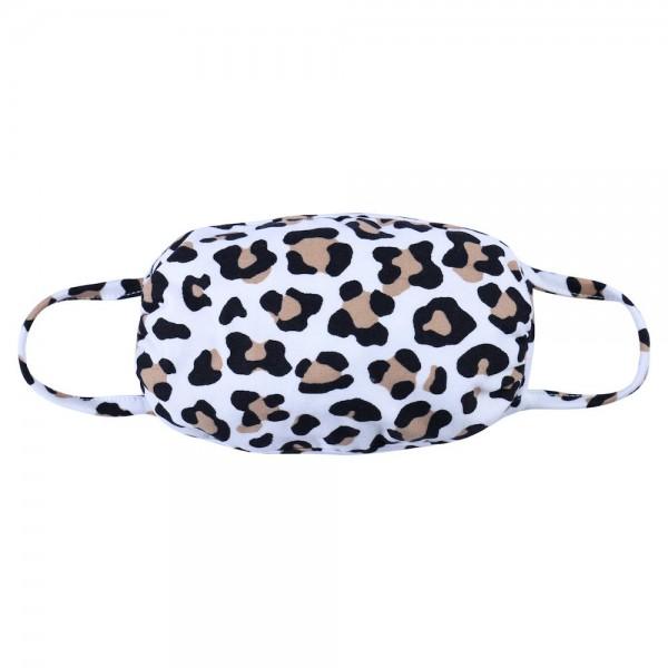 Wholesale aDULTS Reusable Leopard Print T Shirt Cloth Mask Machine Wash Cold Mil