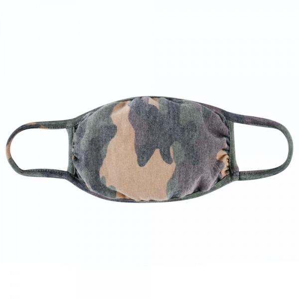 Wholesale reusable Camouflage T Shirt Cloth Mask Machine Wash Cold Mild Detergen