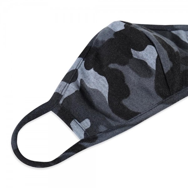 Adults Reusable Camouflage T-Shirt Cloth Face Mask with Seam.  - Machine Wash in Cold - Mild Detergent - Lay Flat to Dry - Do Not Bleach - Reusable Face Mask - These Mask have NO Filter - One Size Fits Most Adults - Exterior Material: 95% Polyester / 5% Spandex - Interior Material: Cotton Blend in Ivory or White  ** These Masks Are Not For Professional Use and Not Medically Rated. These Masks Have No Proven Effectiveness Against Any Viruses. *** ALL Sales Final Due to CDC Recommendations