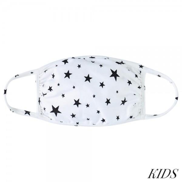 Wholesale kIDS Reusable Star Print T Shirt Cloth Mask Machine Wash Cold Mild Det