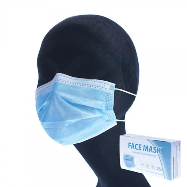 Single Use Disposable Face Mask with Ear Loop (25 PACK).  - Breathable / Comfortable / Lightweight - One-Time Use Only. Discard after each use. - This mask is not a respirator - Pack Breakdown: Packed 5pcs per polybag, 25 pcs per pack total  *This item is a hygiene item and final sale *** ALL Sales Final Due to CDC Recommendations