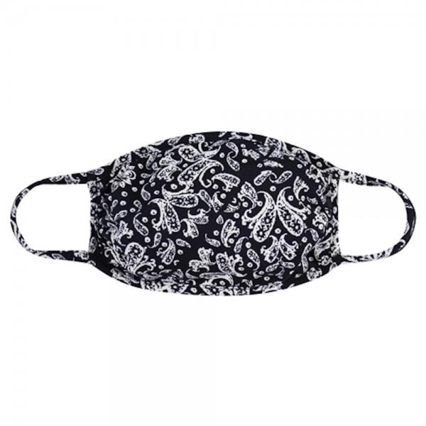 Wholesale aDULTS Reusable Floral Print T Shirt Cloth Mask Seam Machine Wash Cold