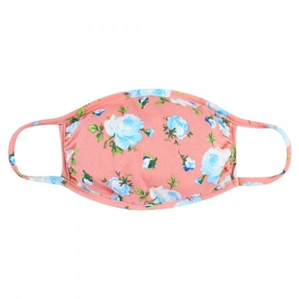 ADULTS Reusable Floral Print T-Shirt Cloth Face Mask.   - Machine Wash in Cold - Mild Detergent - Lay Flat to Dry - Do Not Bleach - Reusable Face Mask - These Mask have NO Filter - One Size Fits Most Adults - Exterior Material: 95% Polyester / 5% Spandex - Interior Material: Cotton Blend in Ivory or White  These Masks Are Not For Professional Use and Not Medically Rated. These Masks Have No Proven Effectiveness Against Any Viruses.