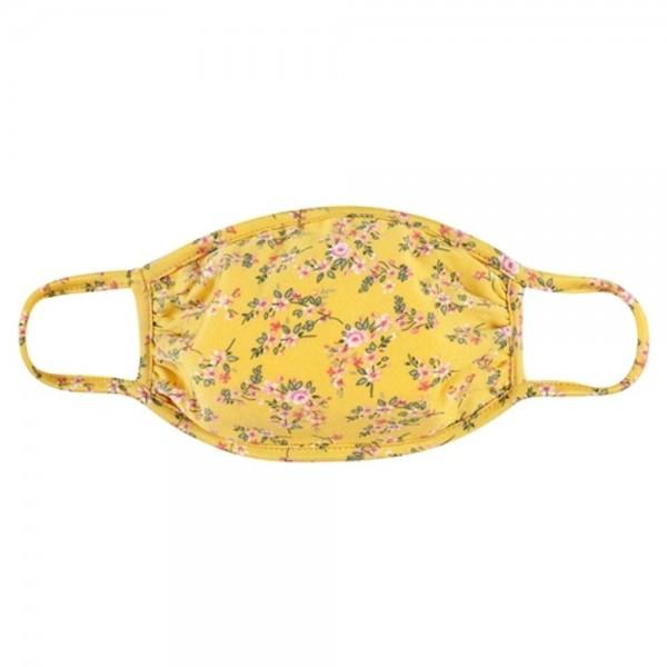 Wholesale adults Reusable Floral Print T Shirt Cloth Mask Machine Wash Cold Mild