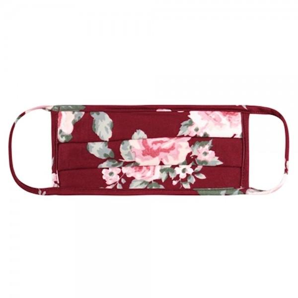 Wholesale aDULTS Reusable Floral Print T Shirt Cloth Mask Pleats Machine Wash Co