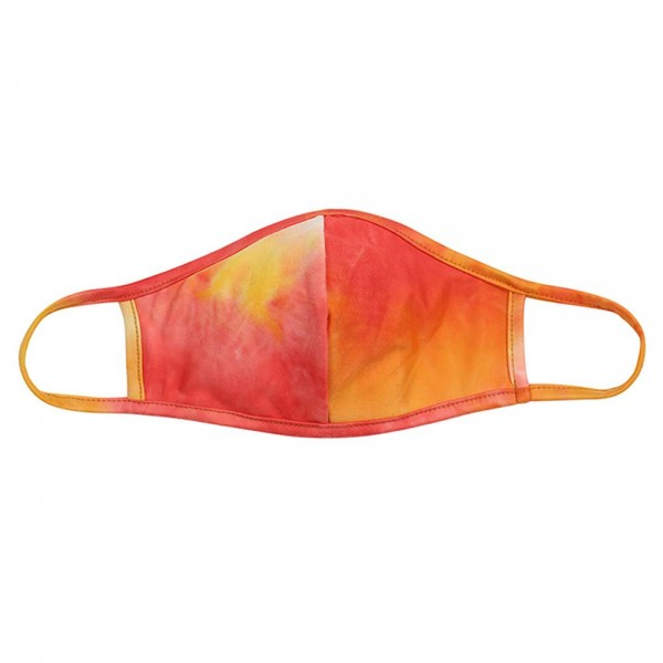 Adults Reusable Tie-Dye T-Shirt Cloth Face Mask with Seam.  - Machine Wash in Cold - Mild Detergent - Lay Flat to Dry - Do Not Bleach - Washable & Reusable  - These Mask have NO Filter - One Size Fits Most Adults - Double Layered Fabric - Exterior Material: 95% Polyester / 5% Spandex - Interior Material: Cotton Blend in Ivory or White  ** These Masks Are Not For Professional Use and Not Medically Rated. These Masks Have No Proven Effectiveness Against Any Viruses. *** ALL Sales Final Due to CDC Recommendations