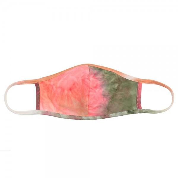 Wholesale adults Reusable Tie Dye T Shirt Cloth Mask Seam Machine Wash Cold Mild