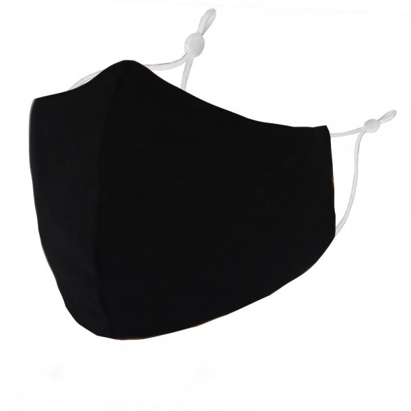 Non-Medical Solid Washable & Reusable Fashion Face Mask with Seam & Adjustable Earloop.  - Wash Before Use - Reusable / Washable / Latex Free - Eco-Friendly - Protects from Dust / Fog / Spray / Pollen - Adjustable Earloop - One size fits most Adults - Cotton & Elastic
