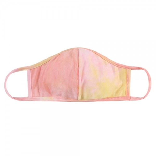 ADULTS Reusable Tie-Dye T-Shirt Cloth Face Mask with Seam.  - Machine Wash in Cold - Mild Detergent - Lay Flat to Dry - Do Not Bleach - Reusable Face Mask - These Mask have NO Filter - One Size Fits Most Adults - Exterior Material: 95% Polyester / 5% Spandex - Interior Material: Cotton Blend in Ivory or White  These Masks Are Not For Professional Use and Not Medically Rated. These Masks Have No Proven Effectiveness Against Any Viruses.