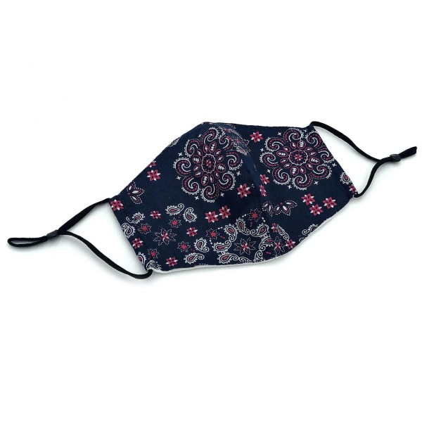 Do everything in Love Brand Adjustable Floral Paisley Print Fashion Mask with Filter Insert.  - Adjustable Ear Loops - Washable & Reusable  - Non-Medical - Filter Insert - Filter Sold Separately*** - Blocks against Sunlight / Dust / Etc - Wash After Each Use  - One size fits most Adults