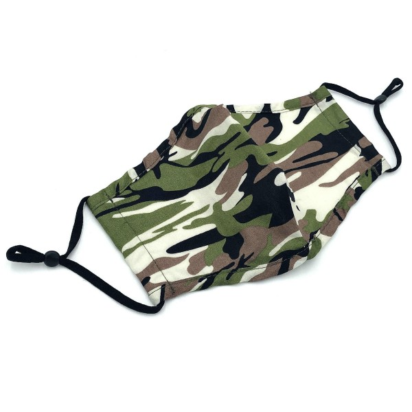 Do everything in Love Brand Adjustable Camouflage Fashion Mask with Filter Insert.  - Adjustable Ear Loops - Washable & Reusable  - Non-Medical - Filter Insert - Filter Sold Separately*** - Blocks against Sunlight / Dust / Etc - Wash After Each Use  - One size fits most Adults