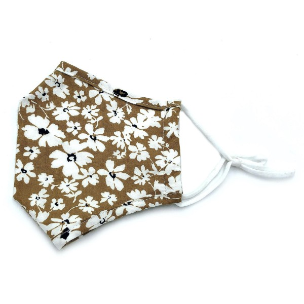 Do everything in Love Brand Adjustable Mustard Floral Print Fashion Mask with Filter Insert.  - Adjustable Ear Loops - Washable & Reusable  - Non-Medical - Filter Insert - Filter Sold Separately*** - Blocks against Sunlight / Dust / Etc - Wash After Each Use  - One size fits most Adults