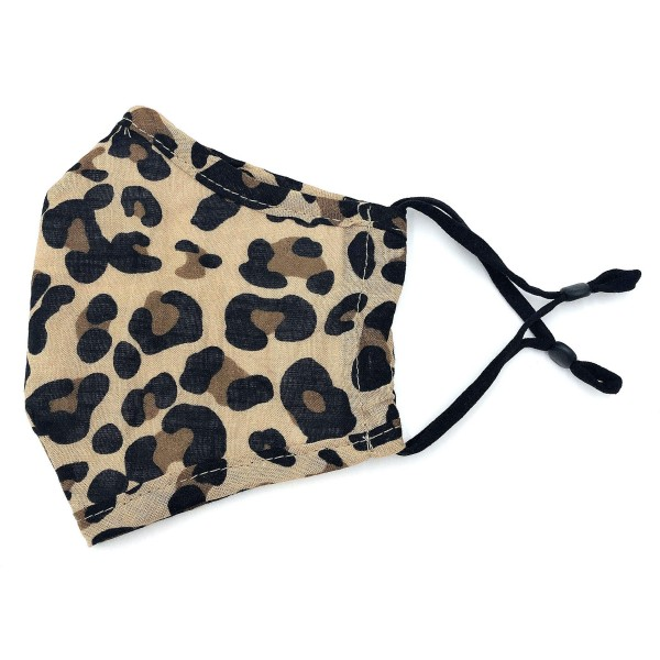 Do everything in Love Brand Adjustable Leopard Print Fashion Mask with Filter Insert.  - Adjustable Ear Loops - Washable & Reusable  - Non-Medical - Filter Insert - Filter Sold Separately*** - Blocks against Sunlight / Dust / Etc - Wash After Each Use  - One size fits most Adults