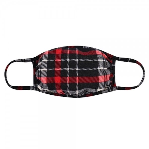 Adults Reusable Plaid Print T-Shirt Cloth Face Mask.  - Machine Wash in Cold - Mild Detergent - Lay Flat to Dry - Do Not Bleach - Reusable Face Mask - These Mask have NO Filter - One Size Fits Most Adults - Exterior Material: 95% Polyester / 5% Spandex - Interior Material: Cotton Blend in Ivory or White  ** These Masks Are Not For Professional Use and Not Medically Rated. These Masks Have No Proven Effectiveness Against Any Viruses. *** ALL Sales Final Due to CDC Recommendations