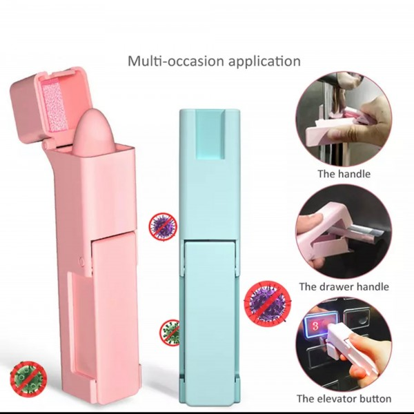 Safe Touch Sanitary Tool - Touch Free & Hygienic  - Keeps You From Touching Dirty Surfaces  - Allows You To Open Door Handles, Pull Drawers, & Press Buttons - Sleek Design That Fits In Your Pocket