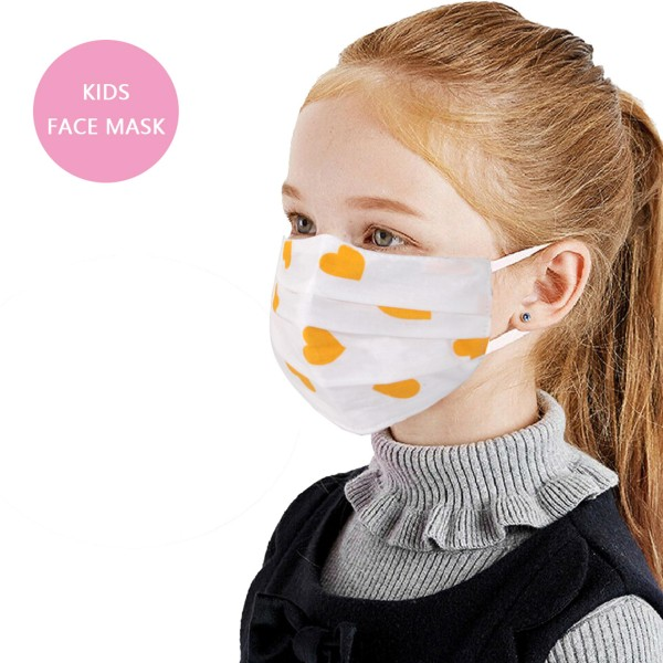 Non-Medical KIDS Heart Fashion Face Mask.  - Wash Before Use - Reusable / Washable / Latex Free - Eco-Friendly - Protects from Dust / Fog / Spray / Pollen - One size fits most KIDS (AGES 5-11) - Cotton & Elastic  *** ALL Sales Final Due to CDC Recommendations