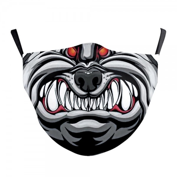 Non-Medical BullDawg Fashion Face Mask Featuring Adjustable Ear Loops & Filter Insert.  - Wash Before Use - Reusable / Washable / Latex Free - Double Layered Fabric - Eco-Friendly - Filter Insert (Filter Not Included) - Protects from Dust / Fog / Spray / Pollen - Adjustable Ear Loop - One size fits most Adults - Cotton & Elastic  ** Filter sold separately.