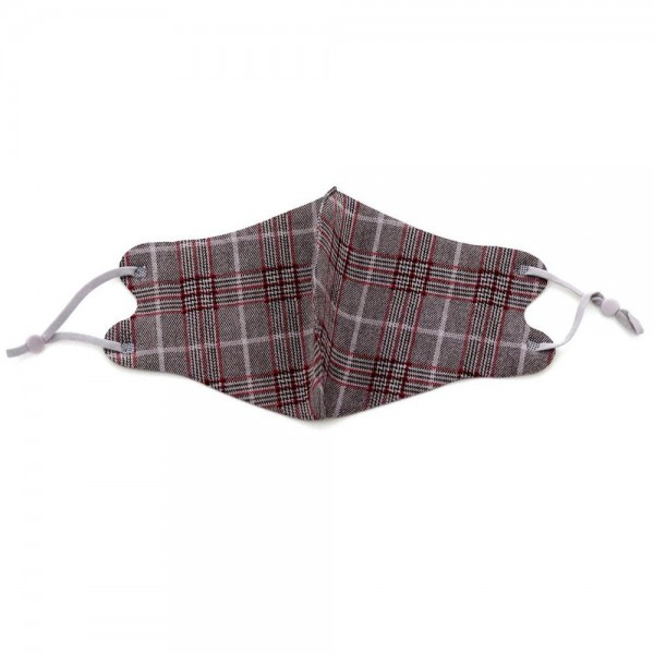 Non-Medical Plaid Fashion Face Mask Featuring Adjustable Ear Loop & Filter Insert.   - Wash Before Use - Reusable / Washable / Latex Free - Filter Insert (Filter Not Included) - Eco-Friendly - Protects from Dust / Fog / Spray / Pollen - Double Layered Fabric - Adjustable Ear Loop - One size fits most Adults - Cotton & Elastic  ** Filter sold separately *** ALL Sales Final Due to CDC Recommendations