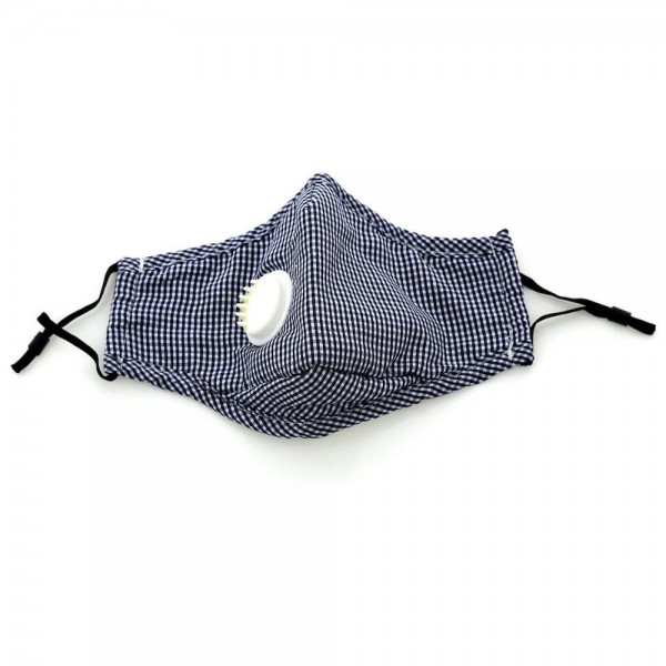 Non-Medical Checkered Print Fashion Face Mask Featuring Breathing Vent, Filter Insert & Adjustable Ear Loops.  - Wash Before Use - Reusable / Washable / Latex Free - Filter Insert (Filter Not Included) - Breathing Vent - Eco-Friendly - Protects from Dust / Fog / Spray / Pollen - Adjustable Ear Loop - One size fits most Adults - Cotton & Elastic  ** Filter sold separately. *** ALL Sales Final Due to CDC Recommendations