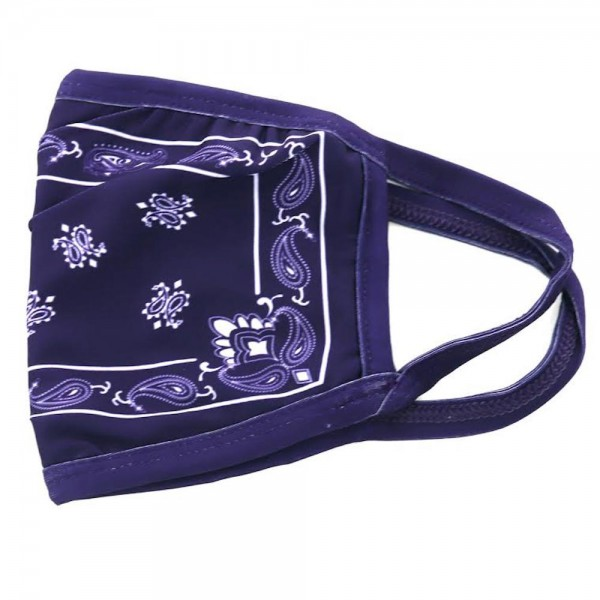 Non-Medical Bandana Print Fashion Design Face Mask Featuring Filter Insert.   - Non-Medical Fashion Face Mask - Filter Insert (Filter Not Included) - Blocks Sunlight, Dust Particles, and/or Wind - Washable and Reusable - Wash After Each Use - Does Not Protect Against Toxic Gases - One size fits most Adults - 100% Polyester  ** Filter sold separately.  *** ALL Sales Final Due to CDC Recommendations