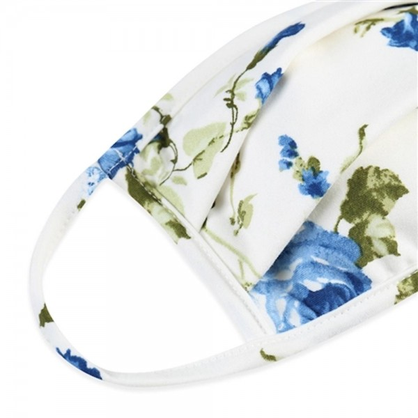 Adults Reusable Floral Print Pleated T-Shirt Cloth Face Mask.  - Machine Wash in Cold - Mild Detergent - Lay Flat to Dry - Do Not Bleach - Washable & Reusable Face Mask - These Mask have NO Filter - One Size Fits Most Adults - Exterior Material: 95% Polyester / 5% Spandex - Interior Material: Cotton Blend in Ivory or White  ** These Masks Are Not For Professional Use and Not Medically Rated. These Masks Have No Proven Effectiveness Against Any Viruses. *** ALL Sales Final Due to CDC Recommendations
