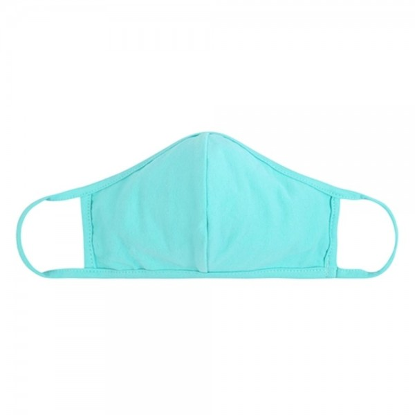 Adults Reusable Solid Color T-Shirt Cloth Face Mask with Seam.  - Machine Wash in Cold - Mild Detergent - Lay Flat to Dry - Do Not Bleach - Washable & Reusable Face Mask - These Mask Have NO Filter - One Size Fits Most Adults - Exterior Material: 95% Polyester / 5% Spandex - Interior Material: Cotton Blend in Ivory or White  ** These Masks Are Not For Professional Use and Not Medically Rated. These Masks Have No Proven Effectiveness Against Any Viruses.
