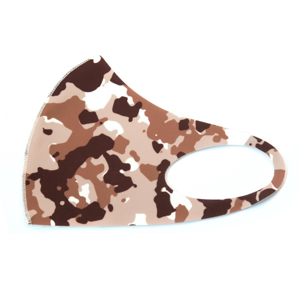 Non-Medical Camouflage Stretchable Fashion Design Face Mask. (Pack of 12)   - Non-Medical Fashion Face Mask - These Mask Have No Filter - Blocks Sunlight, Dust Particles, and/or Wind - Washable and Reusable - Wash After Each Use - Does Not Protect Against Toxic Gases  - Pack Breakdown: 12 Mask Per Pack - Each Mask Are Individually Wrapped - One size fits most Adults - 100% Polyester  *** ALL Sales Final Due to CDC Recommendations