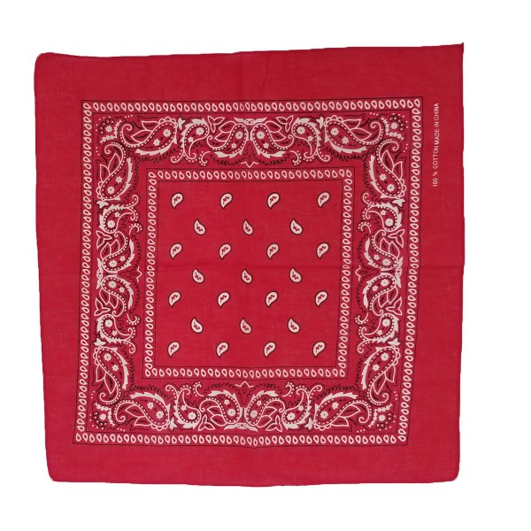 "Do everything in Love Brand Lightweight Paisley Print Square Bandana Scarf.  - One size fits most  - Approximately 27"" x 27""  - 100% Polyester  ** Can be used as a fashion or hair accessory."