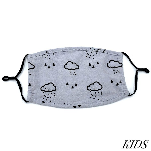 Do everything in Love Brand KIDS Adjustable Rainy Day Fashion Face Mask.  - Non-Medical - Adjustable Ear Loops - Washable & Reusable - Wash After Each Use - Double Layer Fabric - NO Filter  - Blocks against Sunlight / Dust / Etc - One size fits most Kids (5-11)