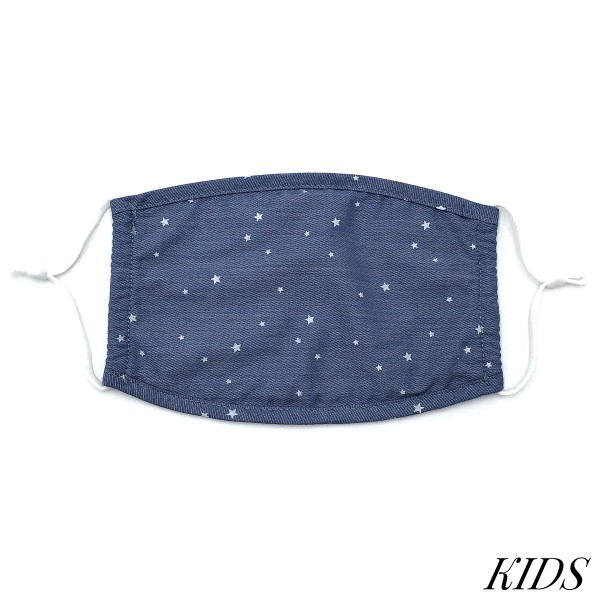 Do everything in Love Brand KIDS Adjustable Starry Night Print Fashion Face Mask.  - Non-Medical - Adjustable Ear Loops - Washable & Reusable - Wash After Each Use - Double Layer Fabric - NO Filter  - Blocks against Sunlight / Dust / Etc - One size fits most Kids (5-11)