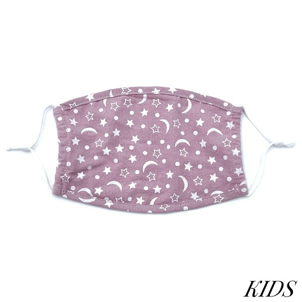 Do everything in Love Brand KIDS Adjustable Stars & Moons Print Fashion Face Mask.  - Non-Medical - Adjustable Ear Loops - Washable & Reusable - Wash After Each Use - Double Layer Fabric - NO Filter  - Blocks against Sunlight / Dust / Etc - One size fits most Kids (5-11)