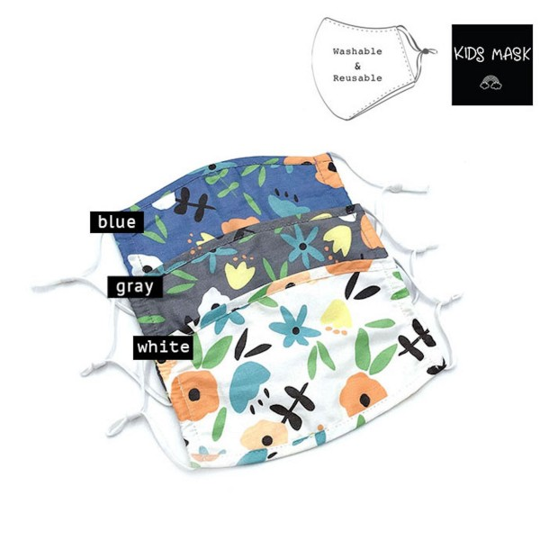 Do everything in Love Brand KIDS Adjustable Floral Print Fashion Face Mask.  - Non-Medical - Adjustable Ear Loops - Washable & Reusable - Wash After Each Use - Double Layer Fabric - NO Filter  - Blocks against Sunlight / Dust / Etc - One size fits most Kids (5-11)