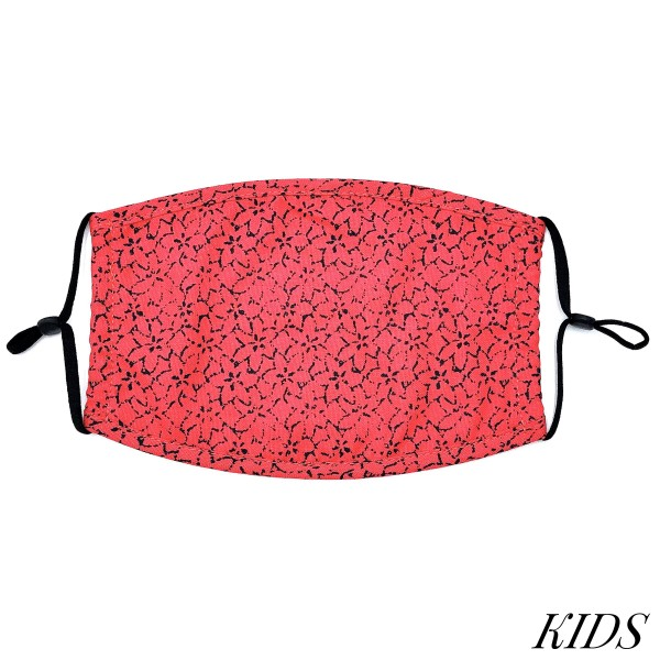 Do everything in Love Brand KIDS Adjustable Flower Print Fashion Face Mask.  - Non-Medical - Adjustable Ear Loops - Washable & Reusable - Wash After Each Use - Double Layer Fabric - NO Filter  - Blocks against Sunlight / Dust / Etc - One size fits most Kids (5-11)  *** ALL Sales Final Due to CDC Recommendations