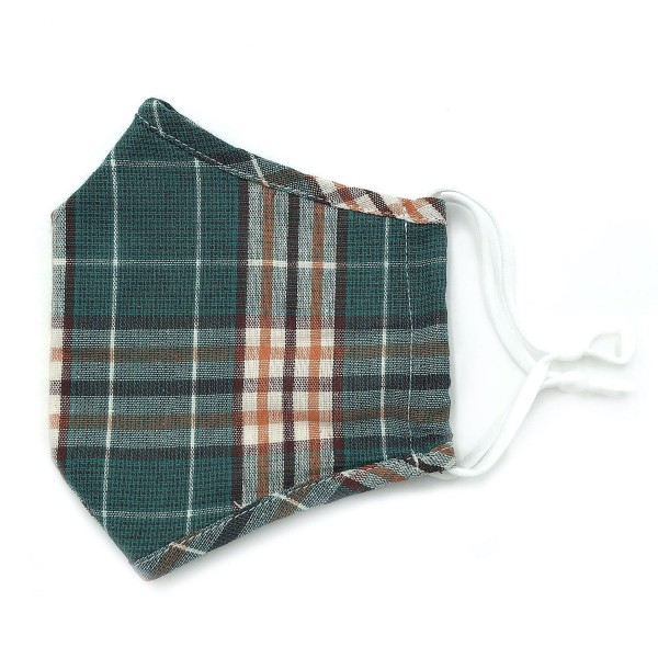 Do everything in Love Brand Adjustable Plaid Print Fashion Mask with Filter Insert.  - Adjustable Ear Loops - Washable & Reusable - Non-Medical - Filter Insert - Filter Sold Separately*** - Blocks against Sunlight / Dust / Etc - Wash After Each Use - One size fits most Adults  *** ALL Sales Final Due to CDC Recommendations