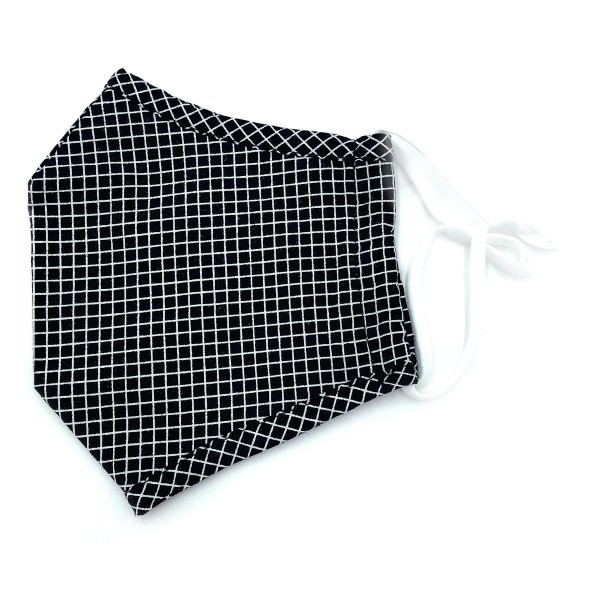 Do everything in Love Brand Adjustable Windowpane Print Fashion Mask with Filter Insert.  - Adjustable Ear Loops - Washable & Reusable - Non-Medical - Filter Insert - Filter Sold Separately*** - Blocks against Sunlight / Dust / Etc - Wash After Each Use - One size fits most Adults  *** ALL Sales Final Due to CDC Recommendations
