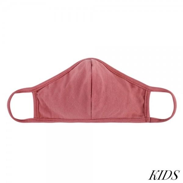 Wholesale kIDS Reusable Solid T Shirt Cloth Mask Seam Machine Wash Cold Mild Det