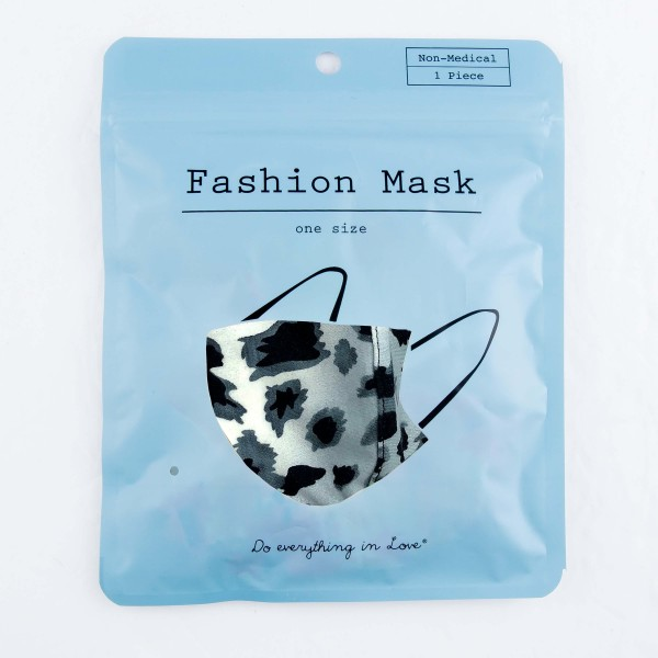 Do everything in Love Brand Adjustable Animal Print Face Mask with Filter Insert.  - Non-Medical - Adjustable Ear Loops - Washable & Reusable - Wash After Each Use - Double Layer Fabric - Filter Insert (Filter Not Included)**  - Blocks against Sunlight / Dust / Etc - One size fits most Adults  *** ALL Sales Final Due to CDC Recommendations