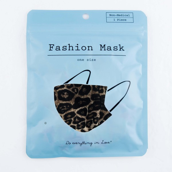 Do everything in Love Brand Adjustable Leopard Print Face Mask with Filter Insert.  - Non-Medical - Adjustable Ear Loops - Washable & Reusable - Wash After Each Use - Double Layer Fabric - Filter Insert (Filter Not Included)**  - Blocks against Sunlight / Dust / Etc - One size fits most Adults  *** ALL Sales Final Due to CDC Recommendations