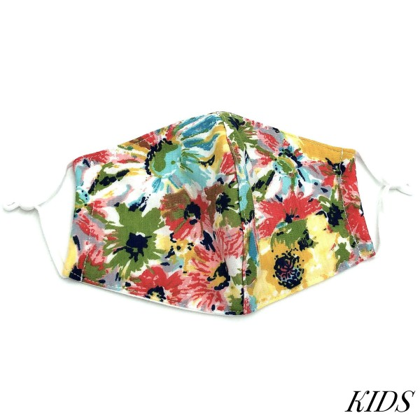 Do everything in Love Brand Kids Adjustable Floral Print Face Mask with Filter Insert.  - Non-Medical - Adjustable Ear Loops - Washable & Reusable - Wash After Each Use - Double Layer Fabric - No Filter or Filter Insert - Blocks against Sunlight / Dust / Etc - One size fits most Kids (5-11)  *** ALL Sales Final Due to CDC Recommendations